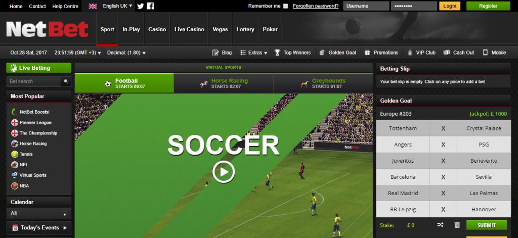 Ставки на виртуальный футбол в Нетбет